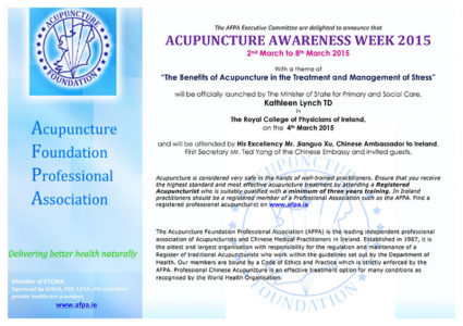 Acupuncture Awareness Week 2015 Website Poster