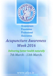 AFPA 2016 Acupuncture Awareness Week Poster